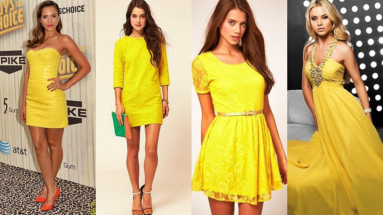 Hermoso Vestido Color Amarillo De Moda 2018 Youtube
