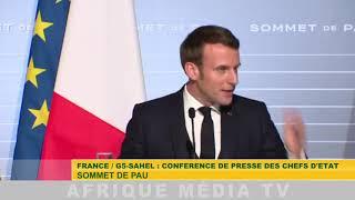 G5 SAHEL / CONFERENCE DE PRESSE DES CHEFS D'ETAT AU SOMMET DE PAU DU 13 01 2020