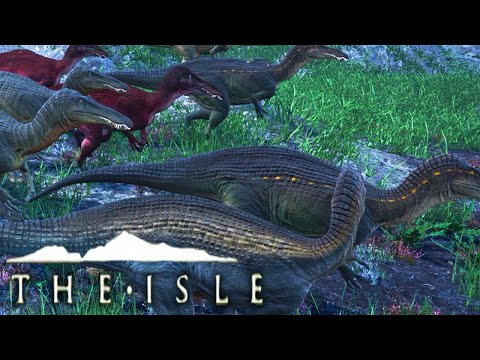 The Isle - SUCHOMIMUS ARMY, RAPTOR PACK AMBUSH (Early Access Gameplay)