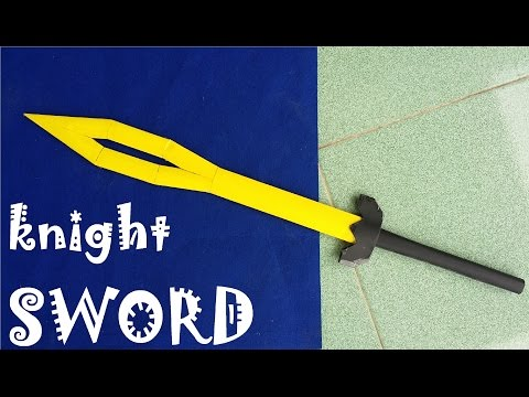 How to make a Paper Knight Sword | Creative Toy