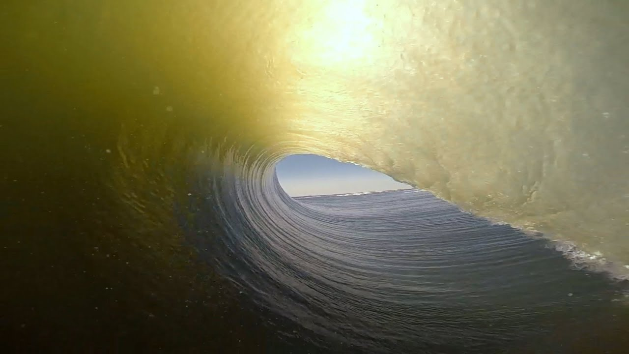 GoPro Benji Brand Namibia Surf YouTube - Surfing inside 27 second long barrel wave