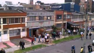 Earthquake evacuation in Bogota, Colombia