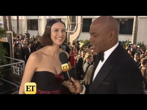 Caitriona Balfe with Entertainment Tonight - Golden Globes 2019