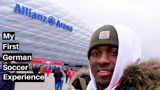 My FIRST GERMAN SOCCER EXPERIENCE!!! Throwback Vlog [02/12/2017] 😊