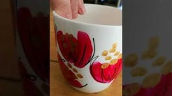 Pink makes the boys wink hot pink and gold hand painted coffee mug