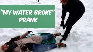 MY WATER BROKE PRANK ON HUSBAND!!! **A RARE REACTION**