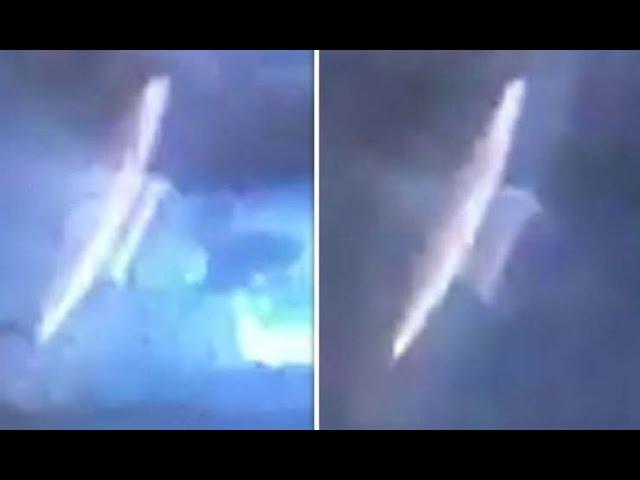 La policía de una ciudad australiana comparte imágenesde un OVNI durante una tormenta eléctrica
