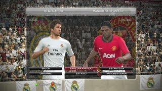 PES 2014   Gameplay partido rapido completo Real Madrid Vs Manchester United Español)