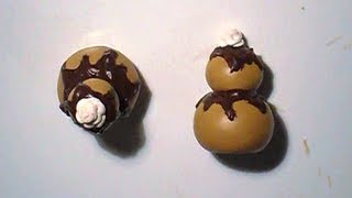 Tuto Fimo: Les religieuses au chocolat
