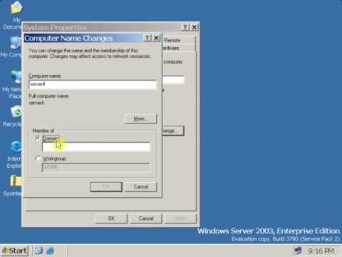26 Solving The Problem Of Duplicate Security Id (sid) On Windows Server 2003