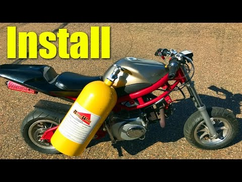 Thumbnail: $50 Pocket Bike NOS Install and Nitrous Purge!