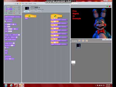 How to make a basic fnaf fan game in scratch 1 4 part 1 title screen