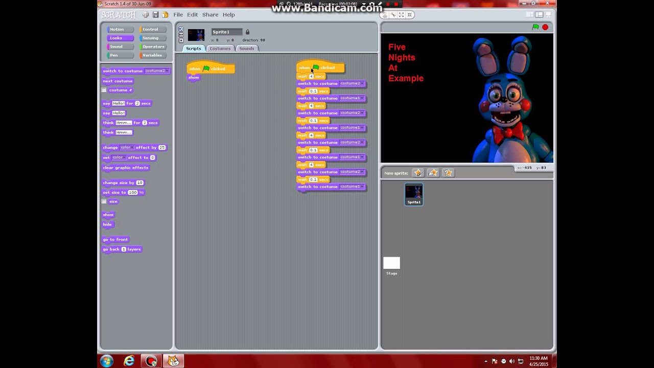 How to make a BASIC FNaF Fan-Game In Scratch 1 4 Part 1 - Title Screen