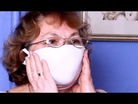 Медицинская маска своими руками из бюстгальтера - Защитит  от вирусов