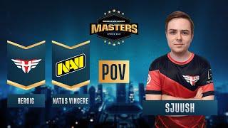 CS:GO - PoV - sjuush - Heroic vs. Natus Vincere - DreamHack Masters Spring 2021 - Semi-final