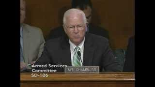 Sen. Chambliss Senate Armed Services Committee Hearing Q&A February 28, 2012