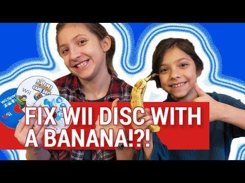 HOW TO FIX SCRATCHED WII DISC WITH A BANANA 💿+ 🍌  - DOES IT WORK?