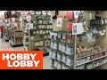 HOBBY LOBBY CHRISTMAS CRAFTS DECORATIONS HOME DECOR - SHOP WITH ME SHOPPING STORE WALK THORUGH 4K