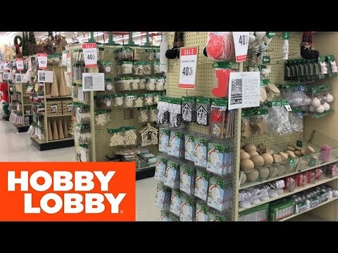 HOBBY LOBBY CHRISTMAS CRAFTS DECORATIONS HOME DECOR – SHOP WITH ME SHOPPING STORE WALK THORUGH 4K