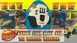 Giant Play Doh Egg! Bighorn truck from Blaze and the Monster Machines