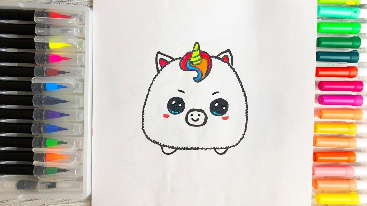 Как нарисовать детеныша Единорога How to draw a baby ...
