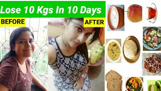 Lose 10 Kgs In 10 Days | Monsoon/Rainy Season Diet Plan For Weight Loss  | How to lose weight fast