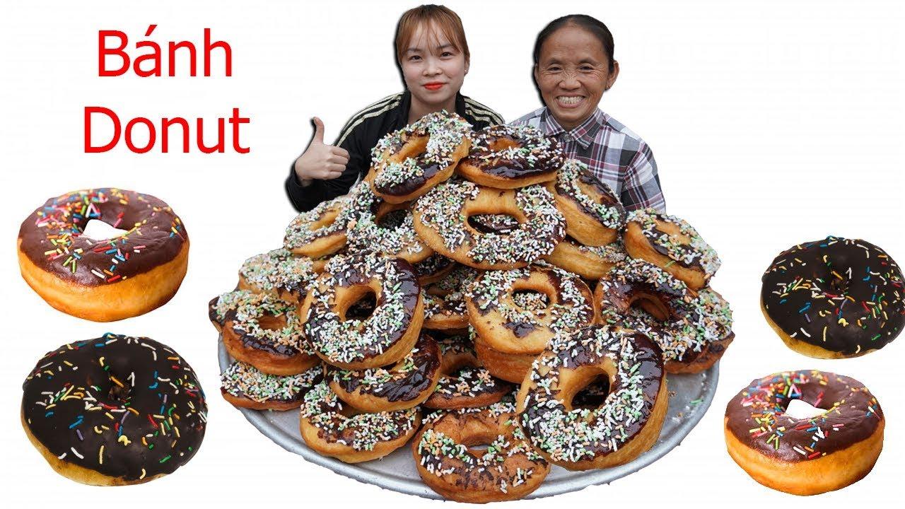 Bà Tân Vlog – Làm Mâm Bánh DONUT Socola Siêu To Khổng Lồ   cake donut