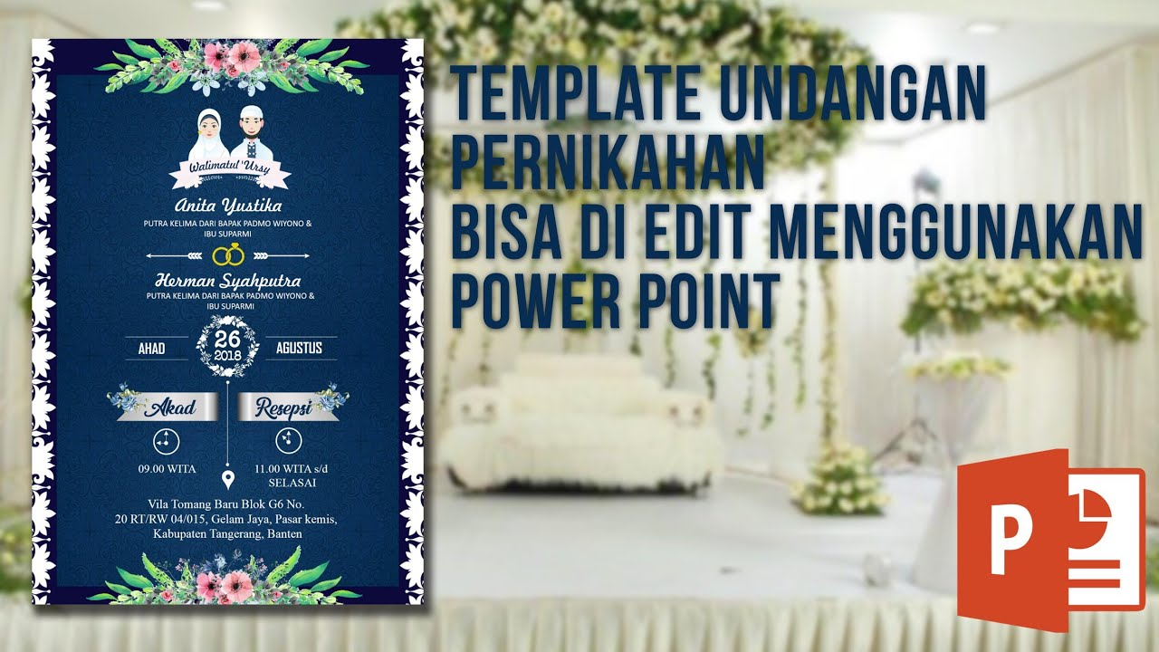 Undangan Pernikahan Keren Dan Elegan Mudah Di Edit Menggunakan Power Point Kode 4 Youtube