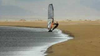 Windsurfing glass at Sandy Point