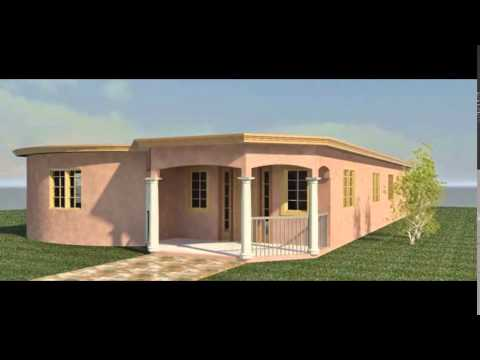 Contractor trelawny jamaica modern 3d design blue print for Jamaican house designs