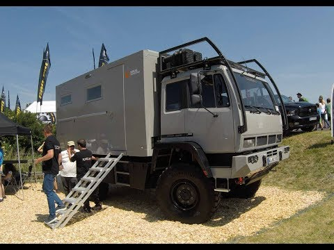 EXCAP STEYR 12M28 EXPEDITION CAMPER TRUCK ! SILVER COLOUR