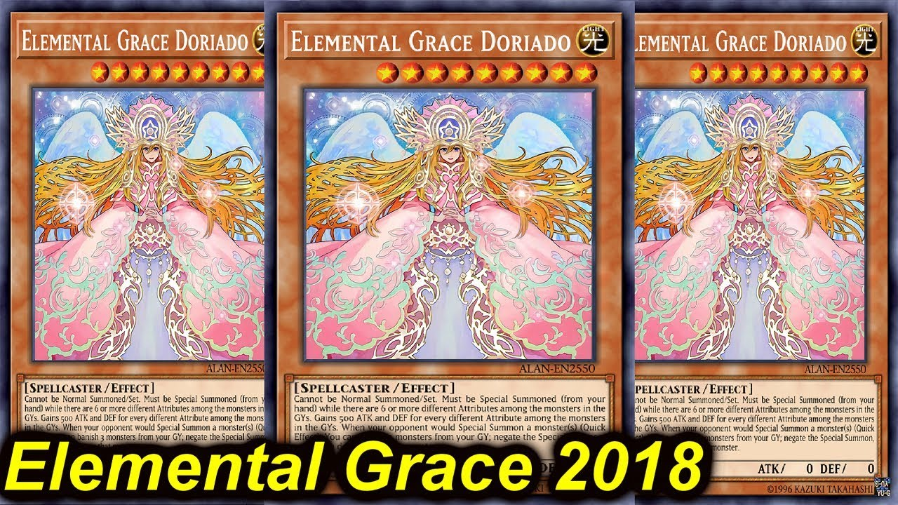 Elemental Grace Doriado Yugioh Card Genuine Yu-Gi-Oh Trading Card