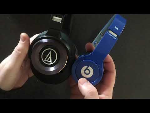 Audio Technica ATH- M50x Vs Audio Technica Solid Bass Vs Beats Solo Review