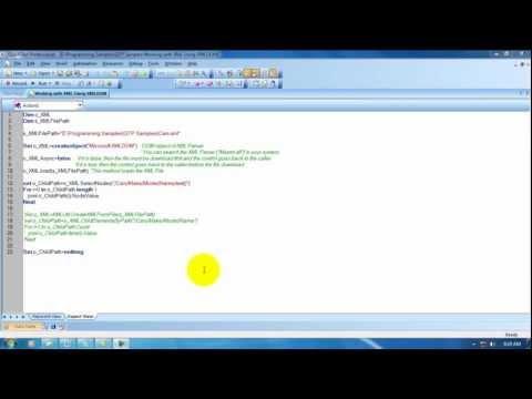 [QTP / UFT Videos]: MS XML DOM