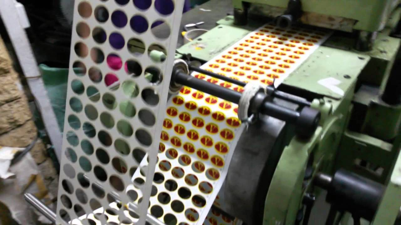 Roll sticker printing machine