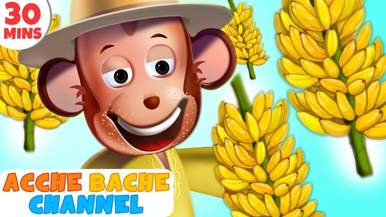 Bandar Mama Pahan Pajama   3D Hindi Rhymes for Children   Acche Bache Channel