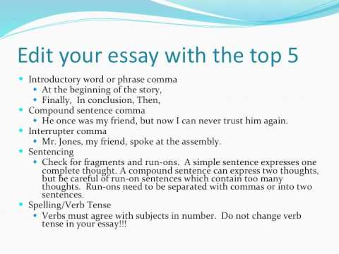 Good ways to begin an essay