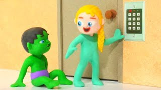 Download SUPERHERO BABIES OPEN SECURITY DOOR ❤ Hulk & Frozen Elsa Play Doh Cartoons For Kids Mp3 and Videos