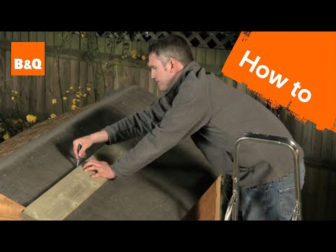 How to felt a shed roof