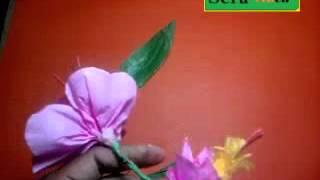 Membuat Kerajinan, Bunga Anggrek Dari Kertas Kreep