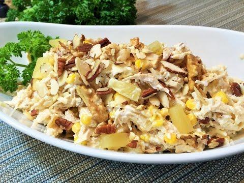 Салат с куриной грудкой и грибами - рецепт с фото