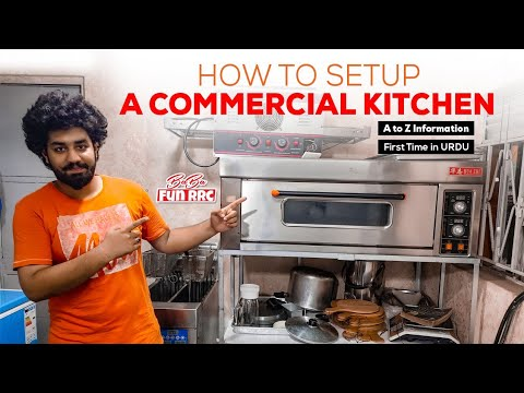 HOW TO SETUP A COMMERCIAL KITCHEN | How To Use Commercial OVEN , FRYER , Price Of Commercial Oven