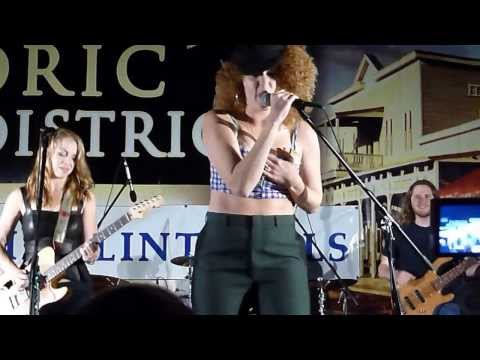 Samantha Fish and Cassie Taylor at Paxico Blues Festival