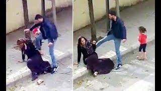 Sokak ortasında eşini tekme tokat dövmüştü! Serbest bırakıldı
