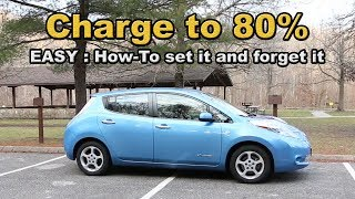 Charge your Nissan Leaf to 80 percent easily and every time