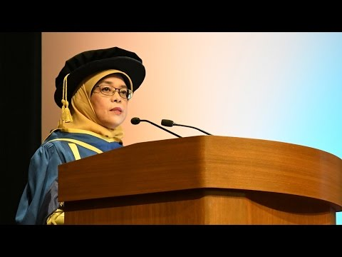 Madam Halimah Yacob's Speech at NUS Commencement 2016