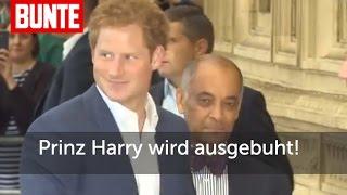 Prinz Harry wird ausgebuht! - BUNTE TV