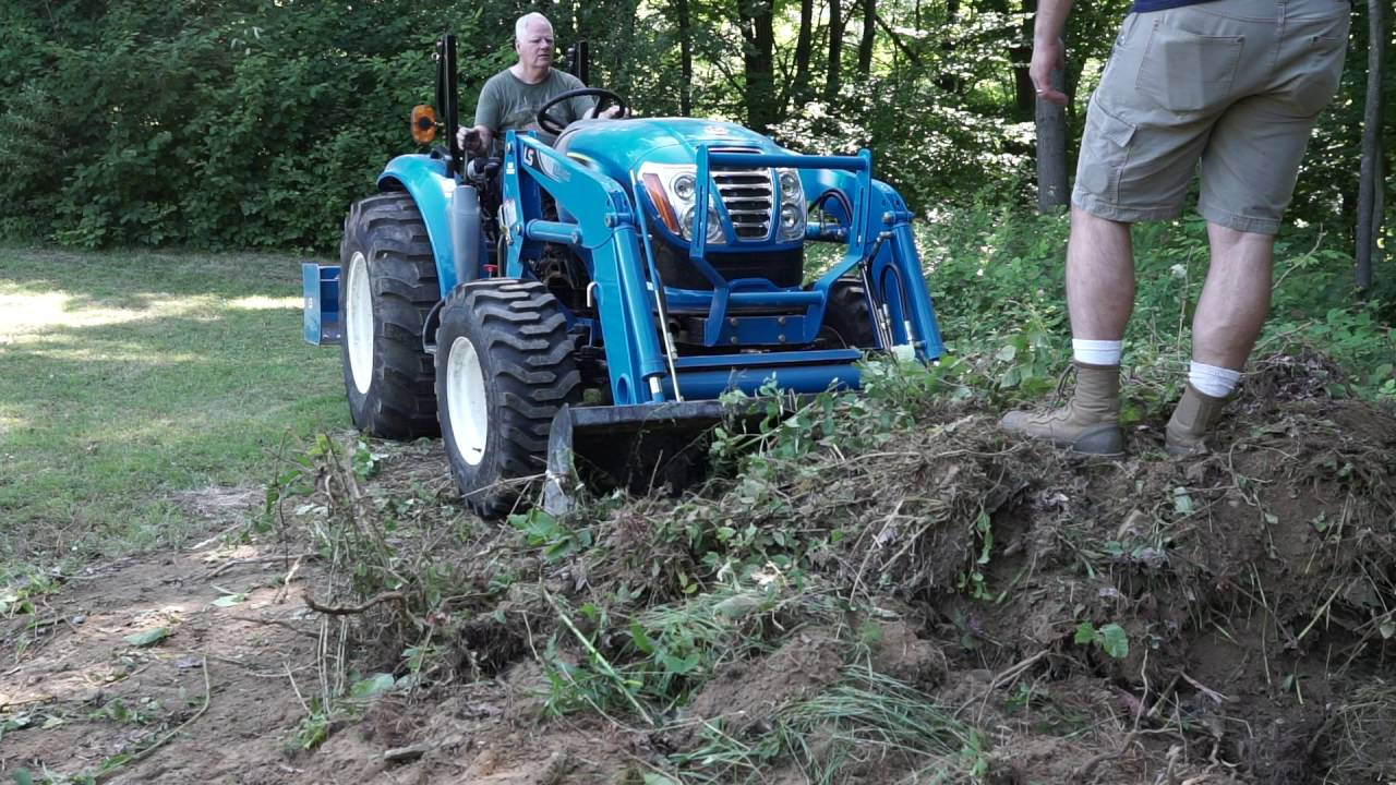 Ls 4040 Tractor Land Clearing Amp Grading Youtube
