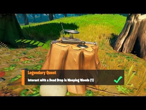 Download Interact with a Dead Drop in Weeping Woods (1) All Locations - Fortnite Week 2 Legendary Quest