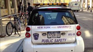 """NEW YORK UNIVERSITY PUBLIC SAFETY UNITS, """"NYU"""" IN THE VILLAGE SECTION OF MANHATTAN IN NYC."""